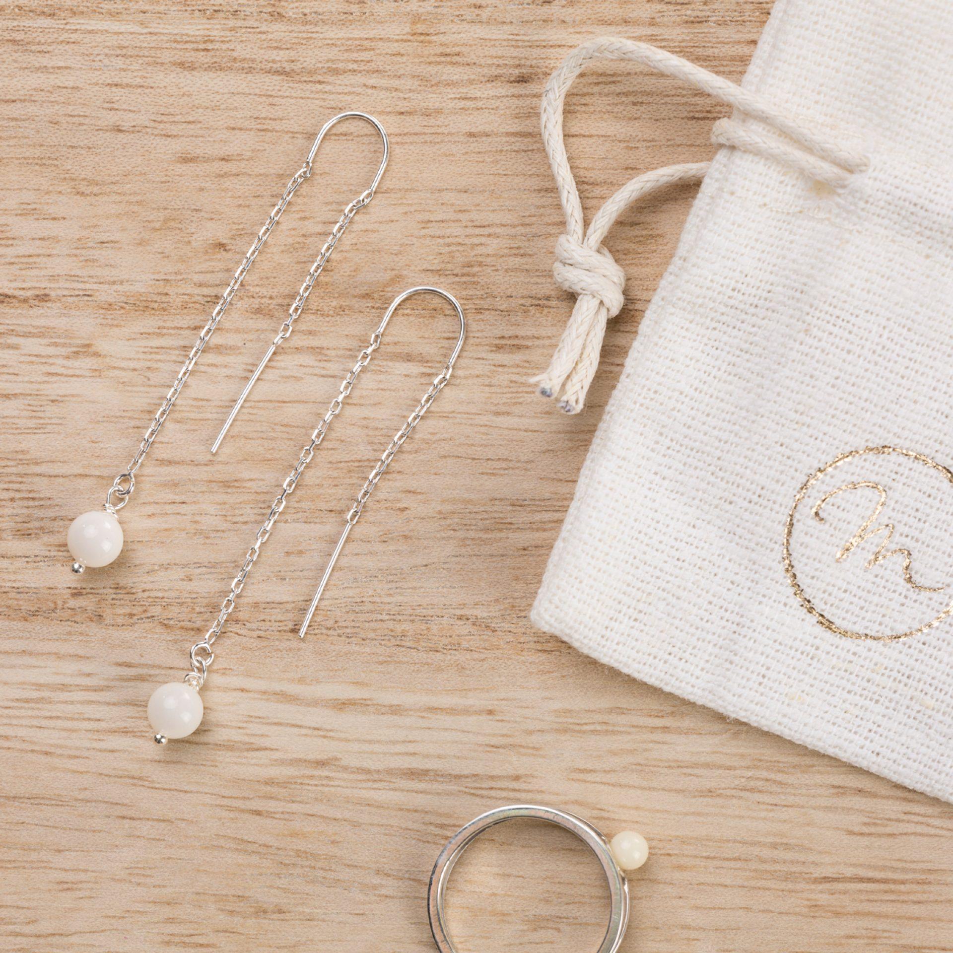 Ohrringe Silber Muttermilchschmuck Schmuck für Mamas