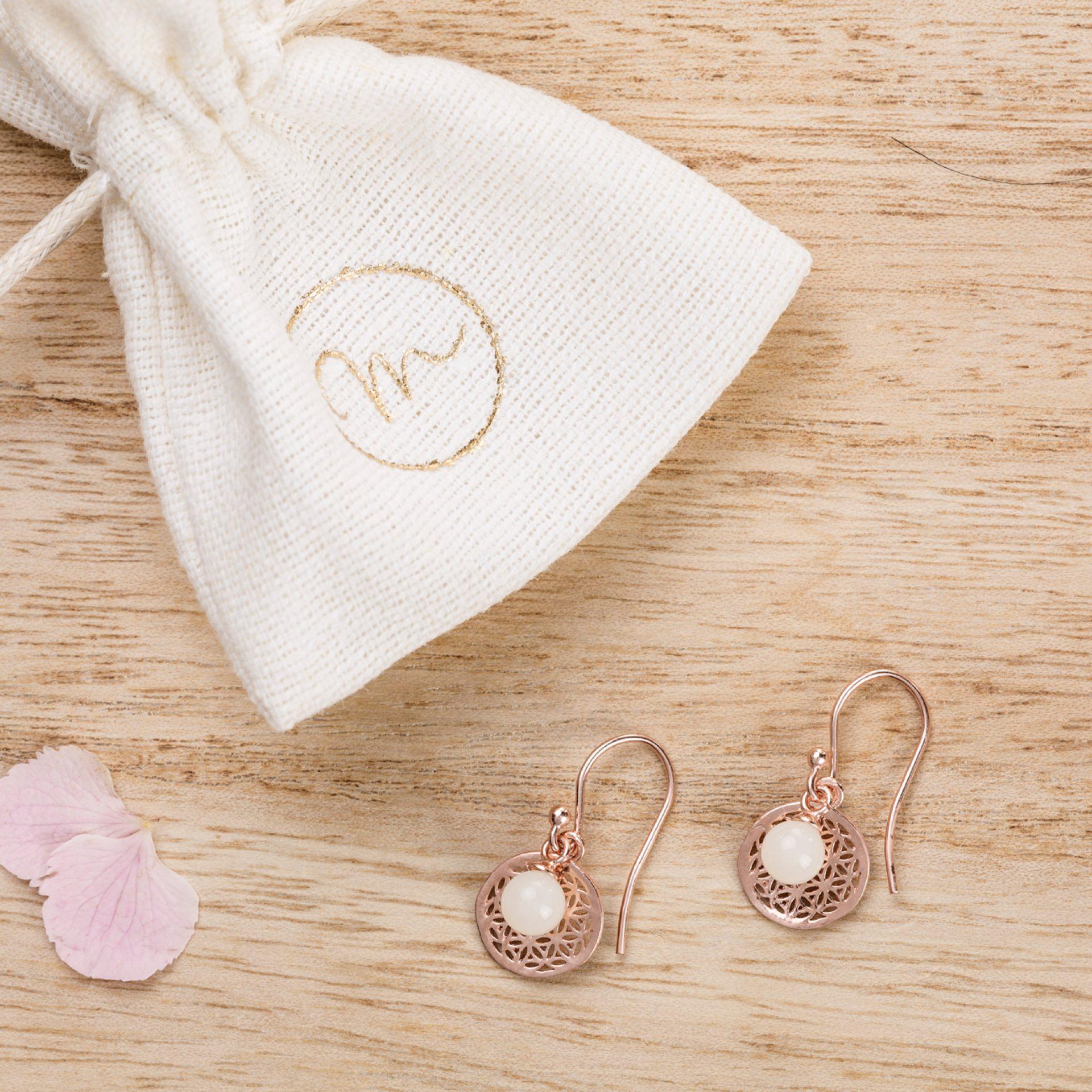 Ohrringe Lebensblume Muttermilchschmuck
