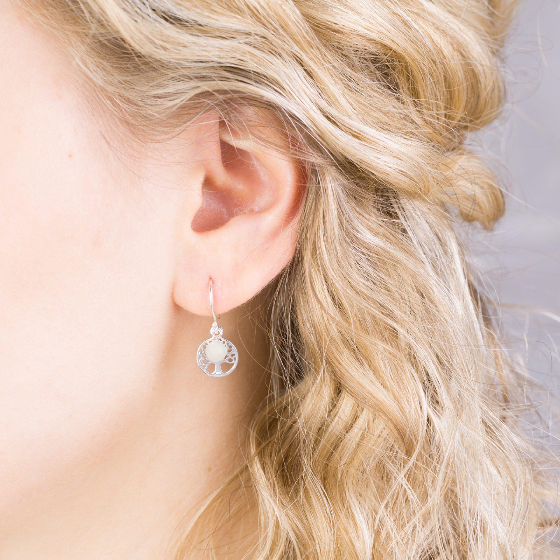 Ohrringe Lebensbaum Silber Muttermilchschmuck