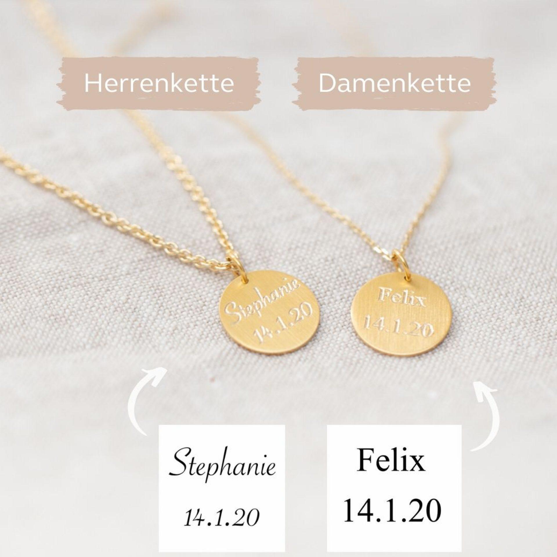 partnerketten partnerschmuck mit gravur 750 gold