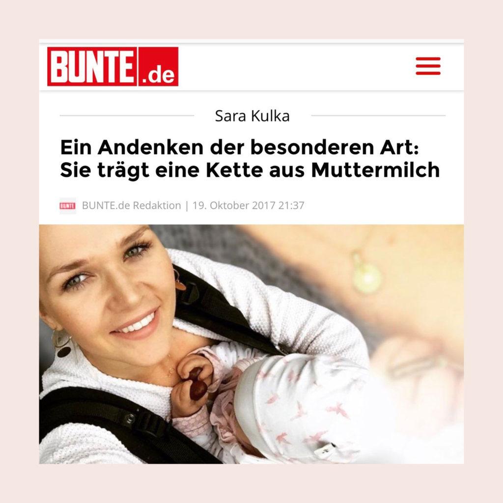 Sara Kulka Muttermilch Schmuck Kette Muttermilchschmuck