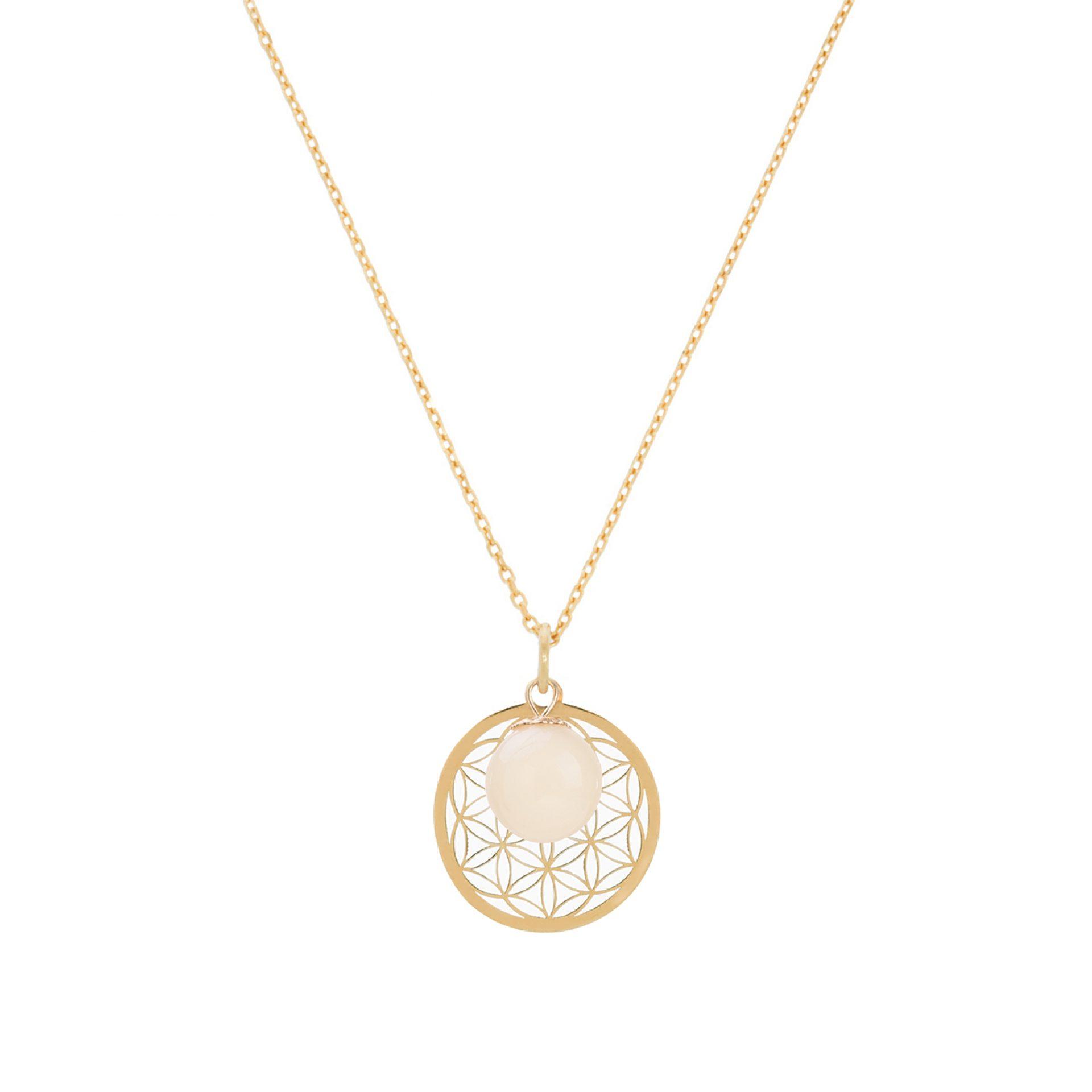Muttermilchkette mit Lebensblume Muttermilch Halskette