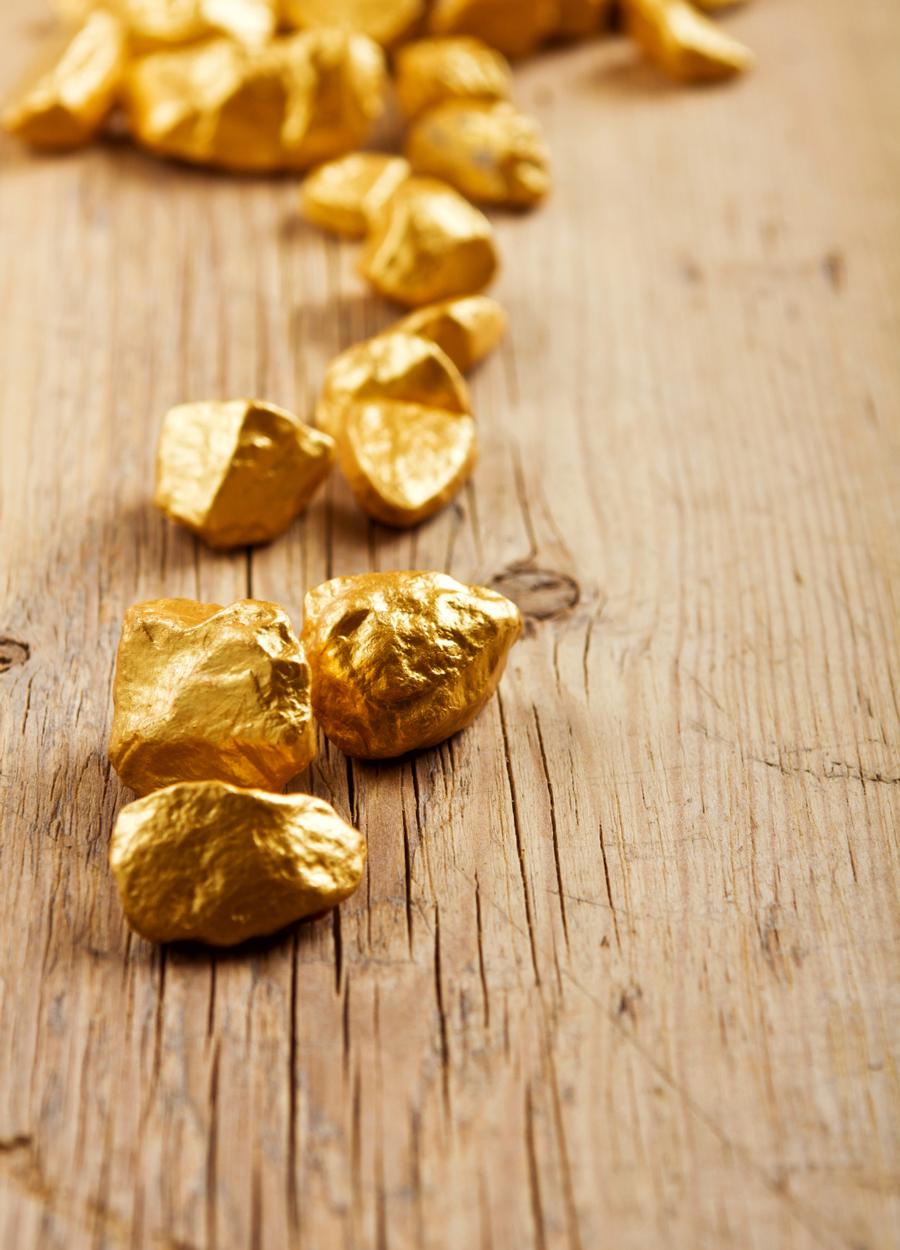 Gold Legierung Gold Nugget für Schmuck 750