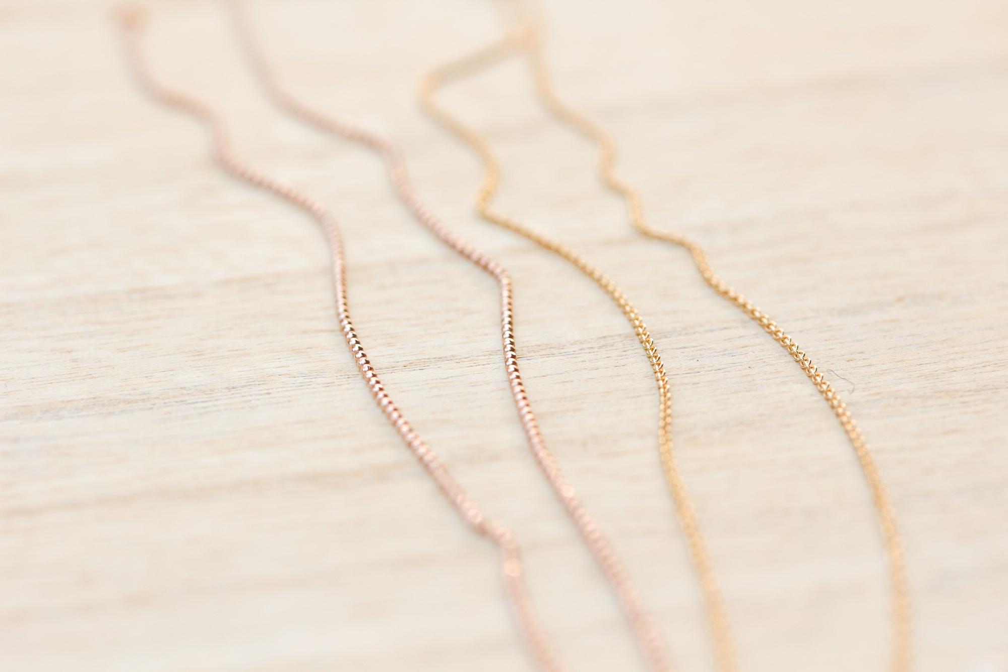 Halskette 750 Gold Roségold Weissgold Gelbgold zarte Echtgold Halskette 750