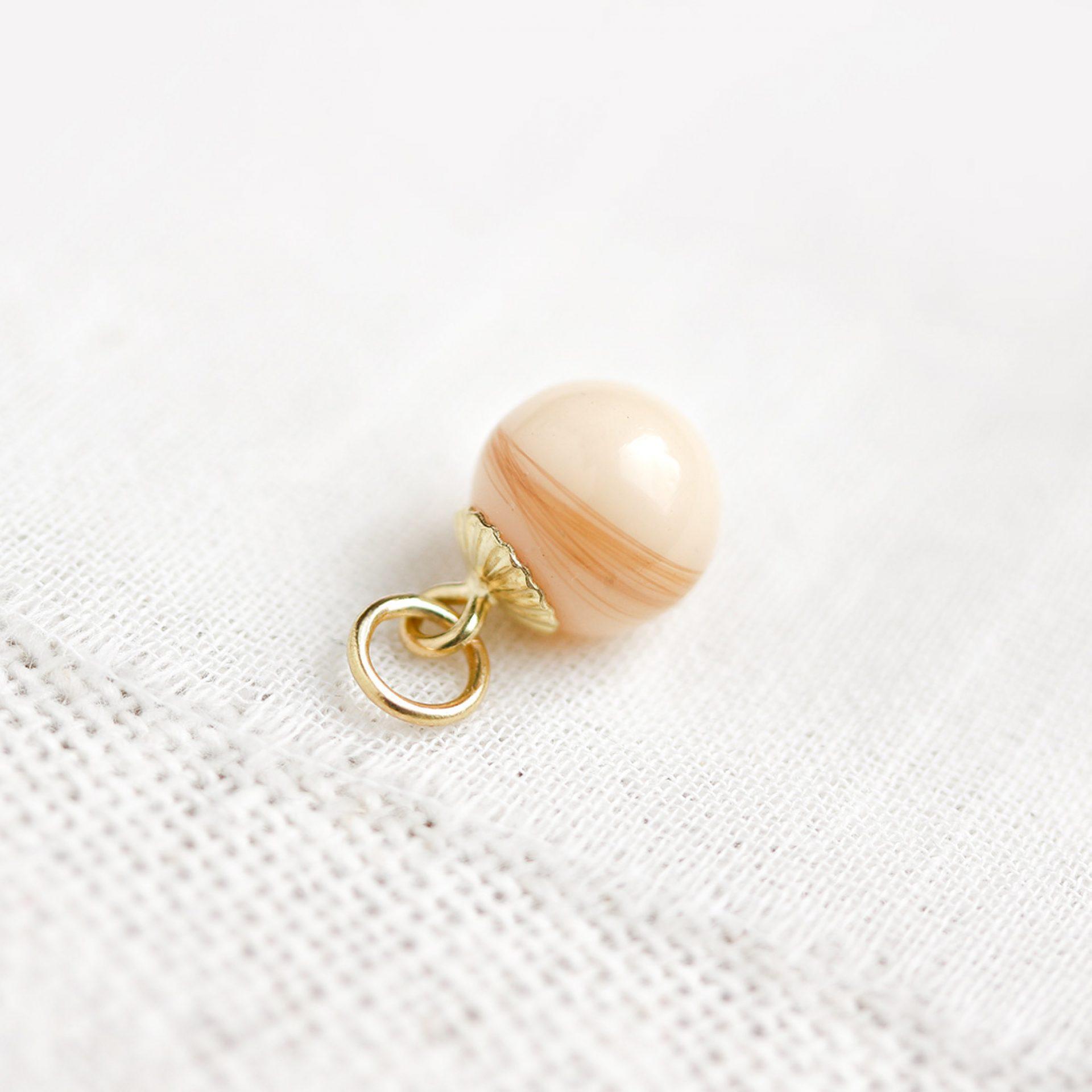 Perle mit Babyhaar Muttermilchschmuck Haar Kette