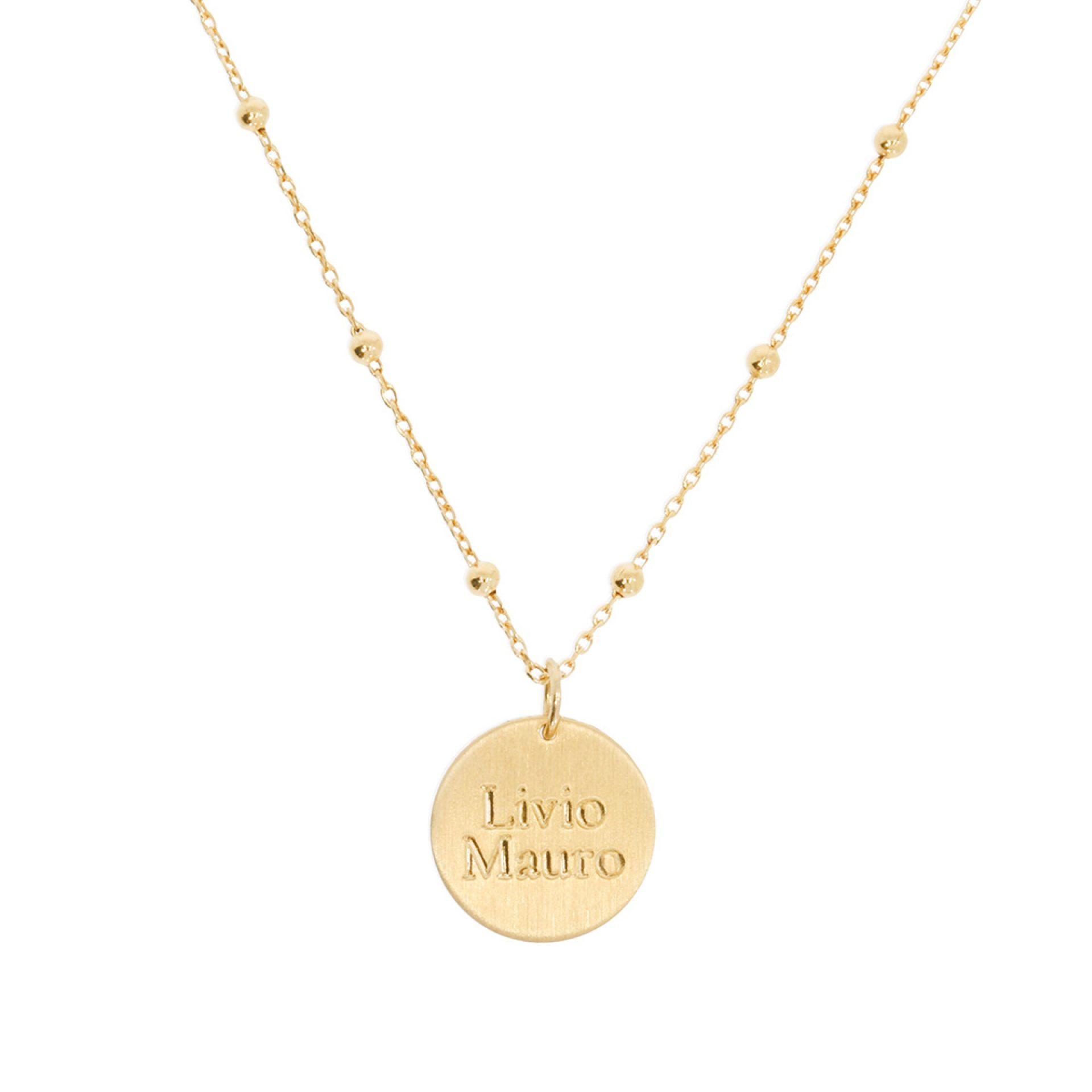 Halskette Silber Gold 750 mit Gravur personalisiert