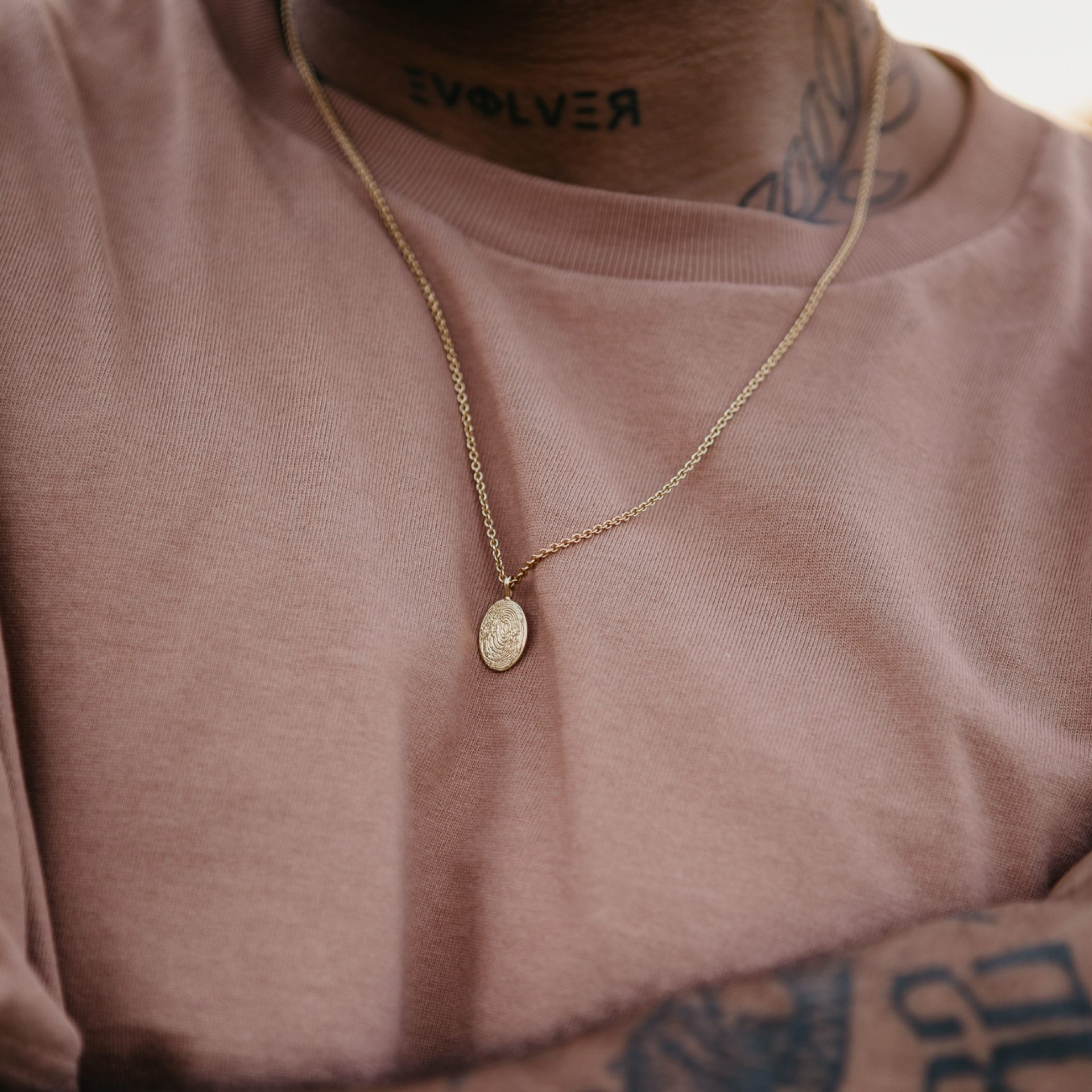Halskette mit Fingerabdruck für Männer 750 Gold Silber Schweiz Fingerprintschmuck
