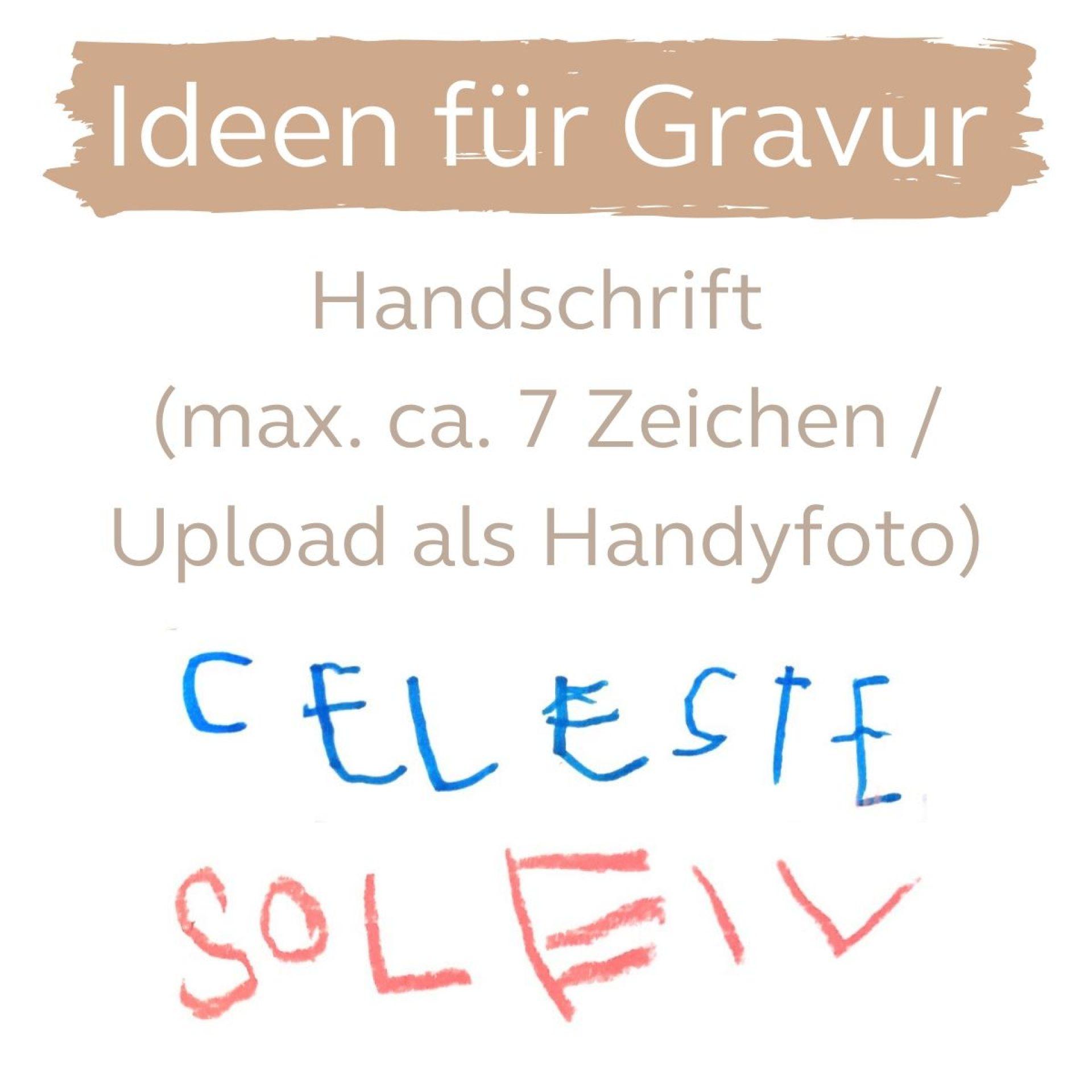 Handschrift Name als Gravur Armkette Silber Gold