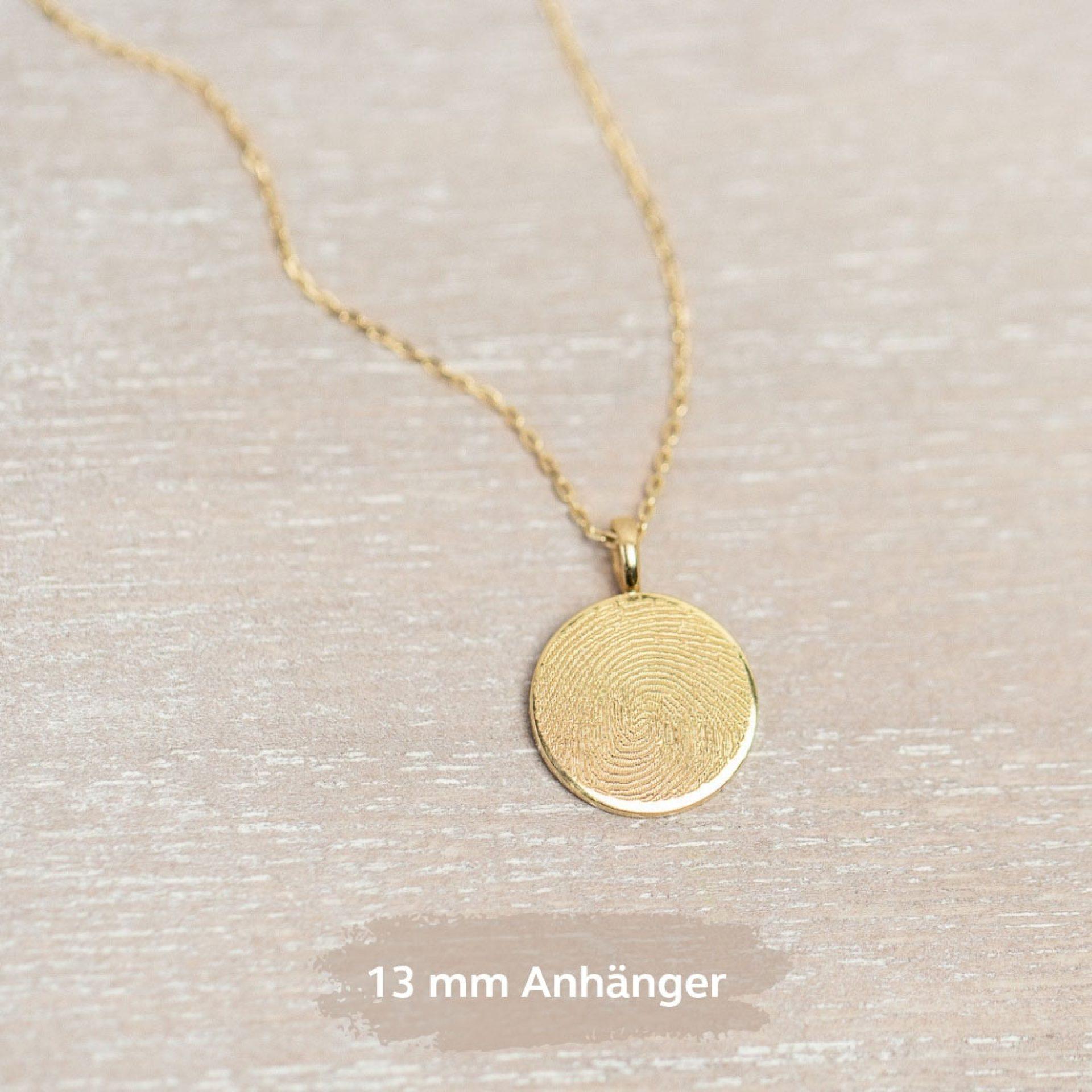 Fingerabdruck Plättchen Anhänger Silber Gold Schweiz