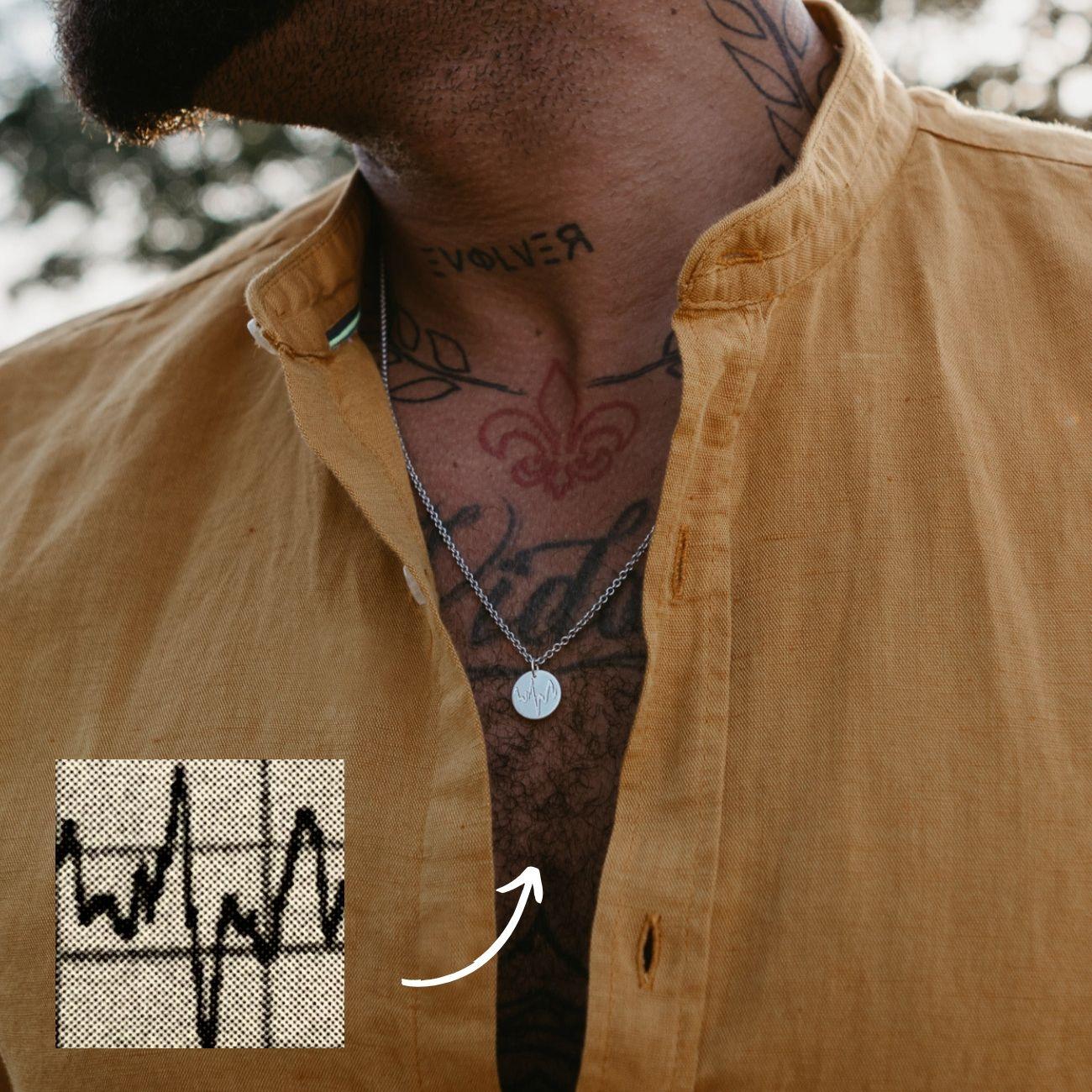 Halskette mit Gravur für Männer Personalisiert Namenskette
