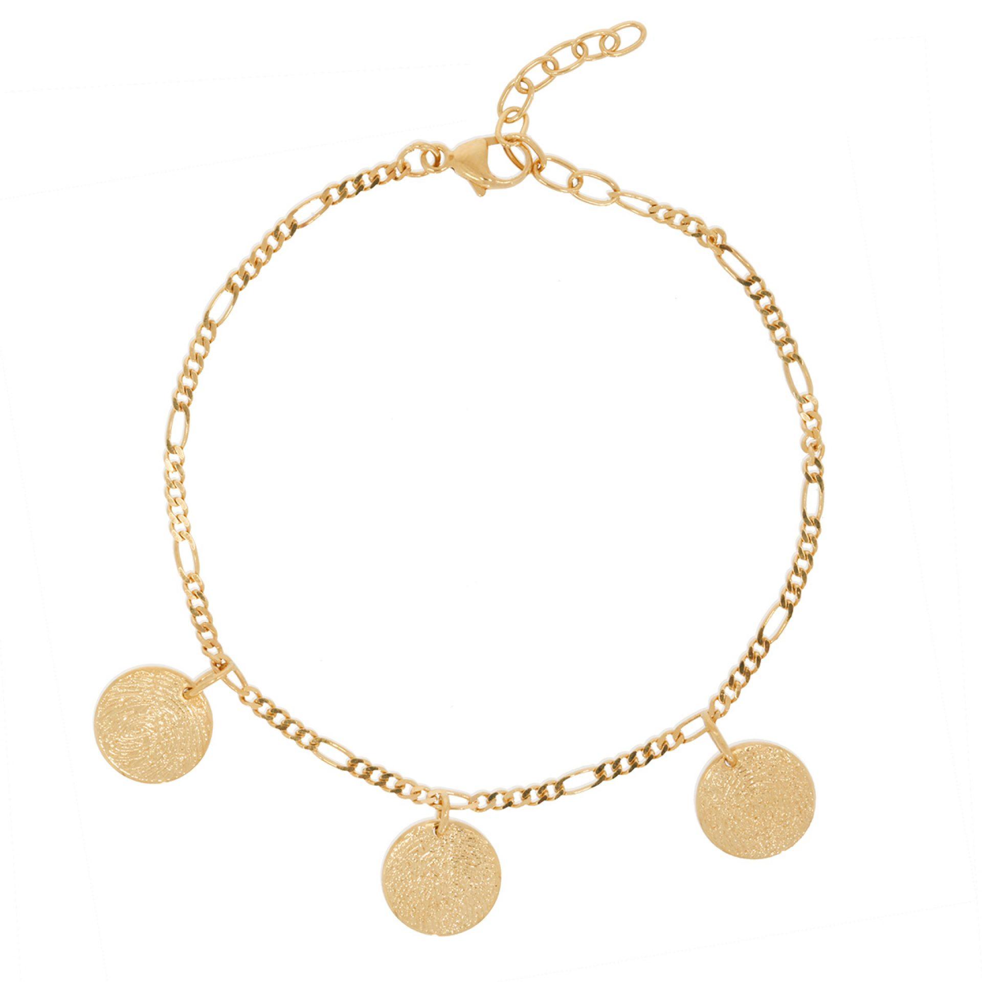 Armkette mit Gravur personalisiert Fingerprint Armkette Gold