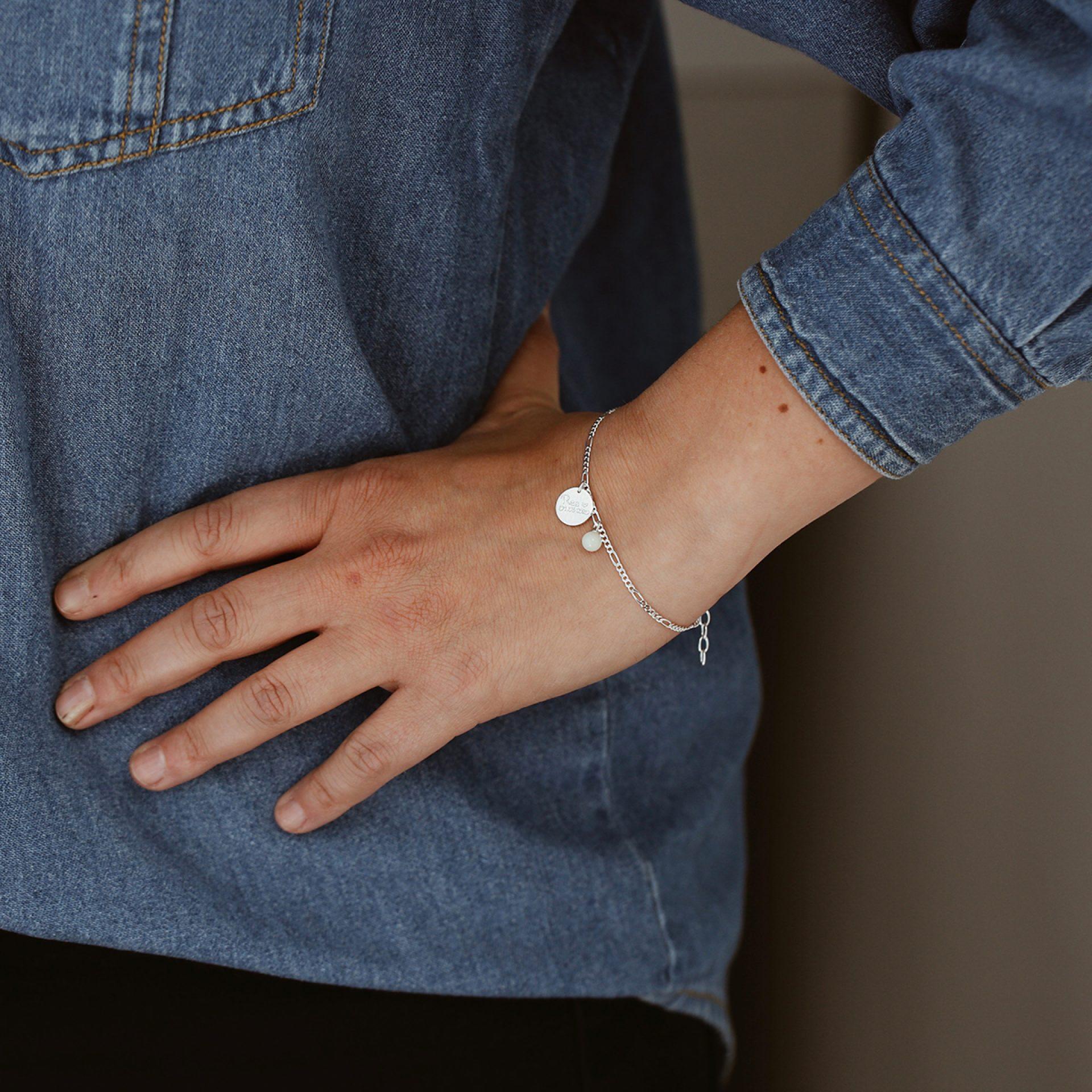 muttermilch armkette silber