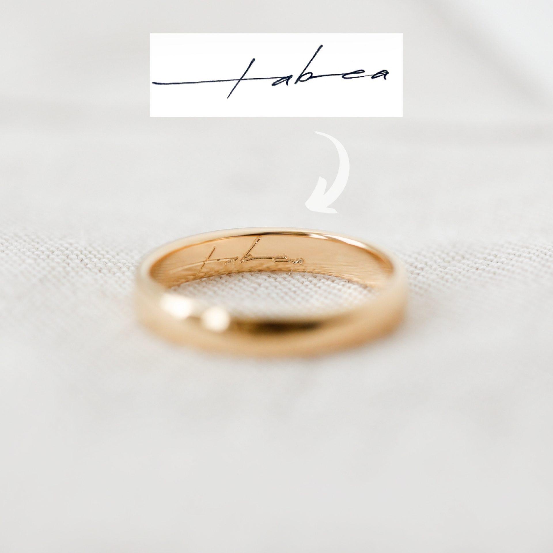 ring gravur innen asche haar schmuck verstorbene menschen tiere