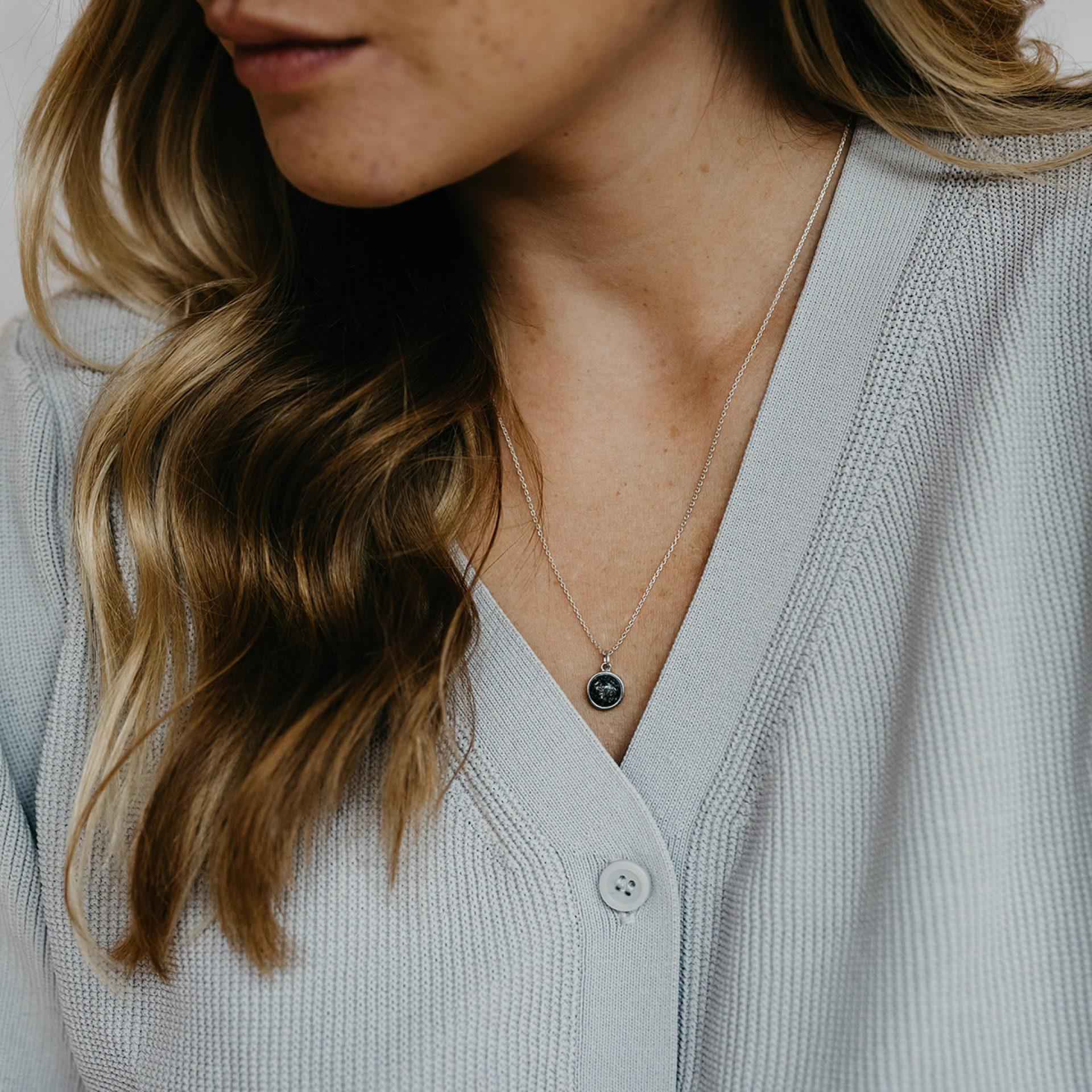 Halskette Haar Asche Erinnerung