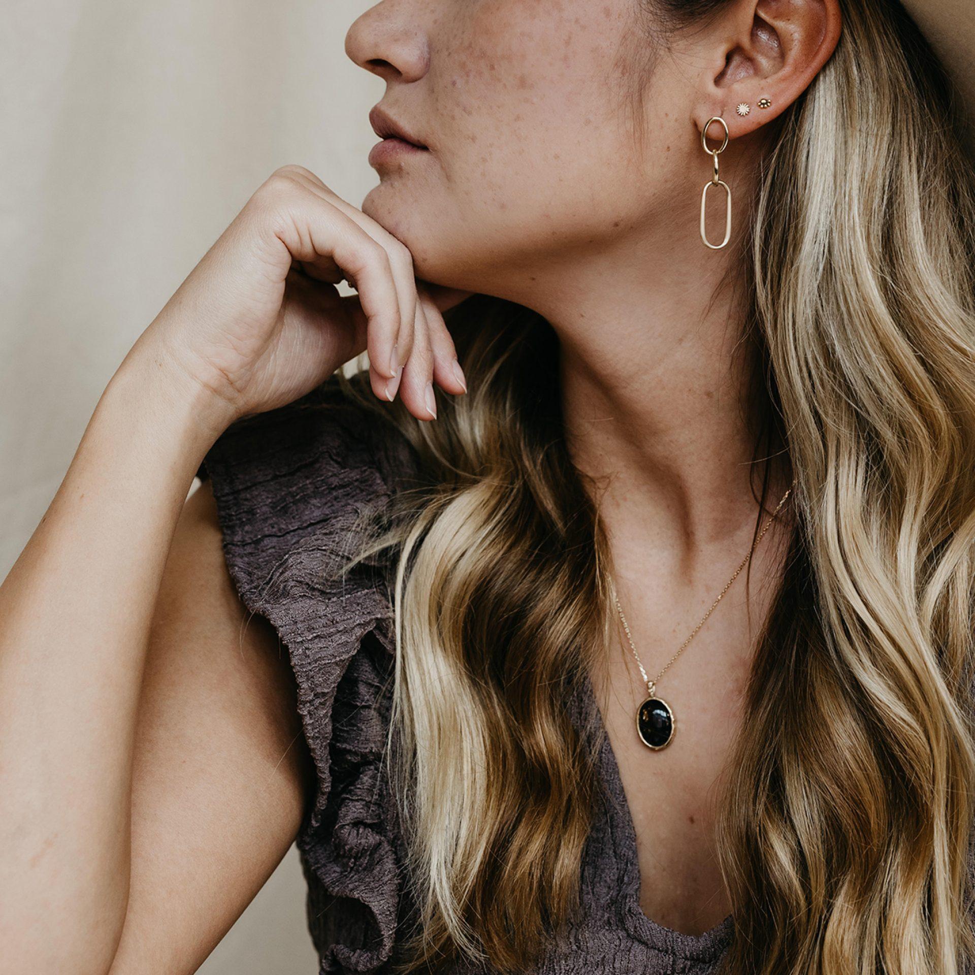 Halskette aus Haar von Tier Mensch Erinnerung Asche