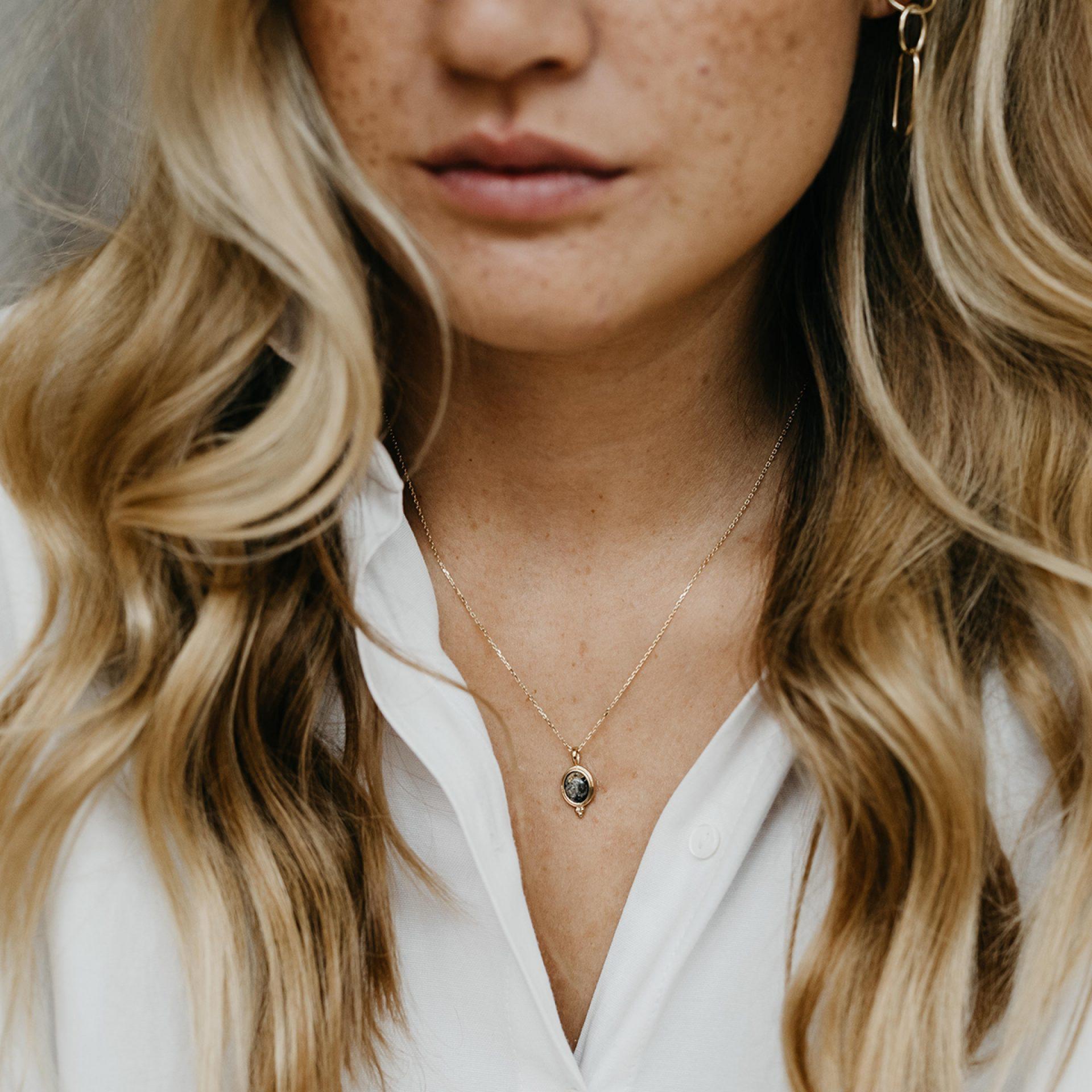 Halskette Asche Haare Erinnerung Verstorbene