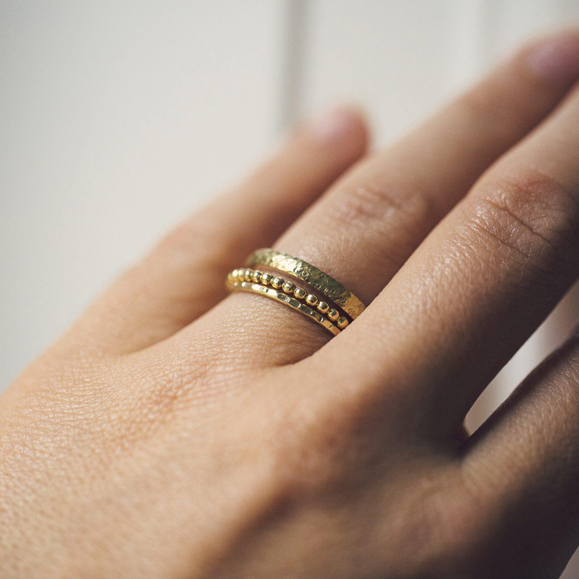 Damenring Ehering Filigraner Schlichter Ehering für Frau