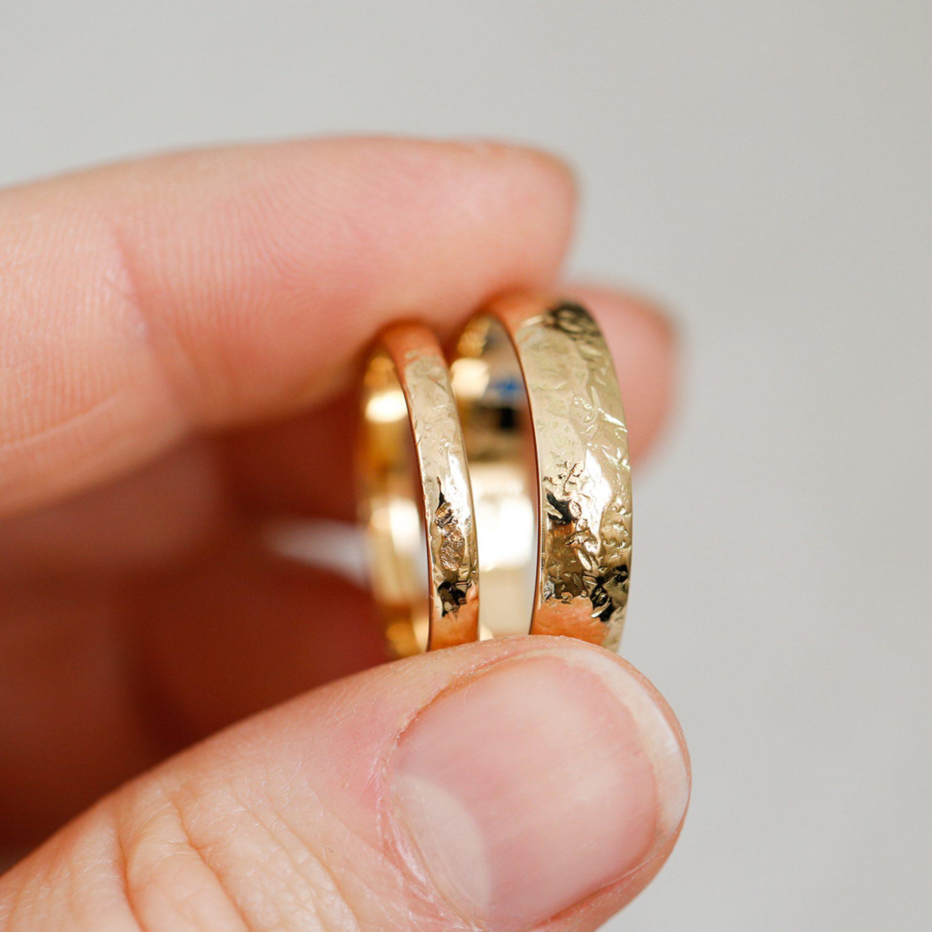 eheringe gelbgold 750 gehämmert schweiz