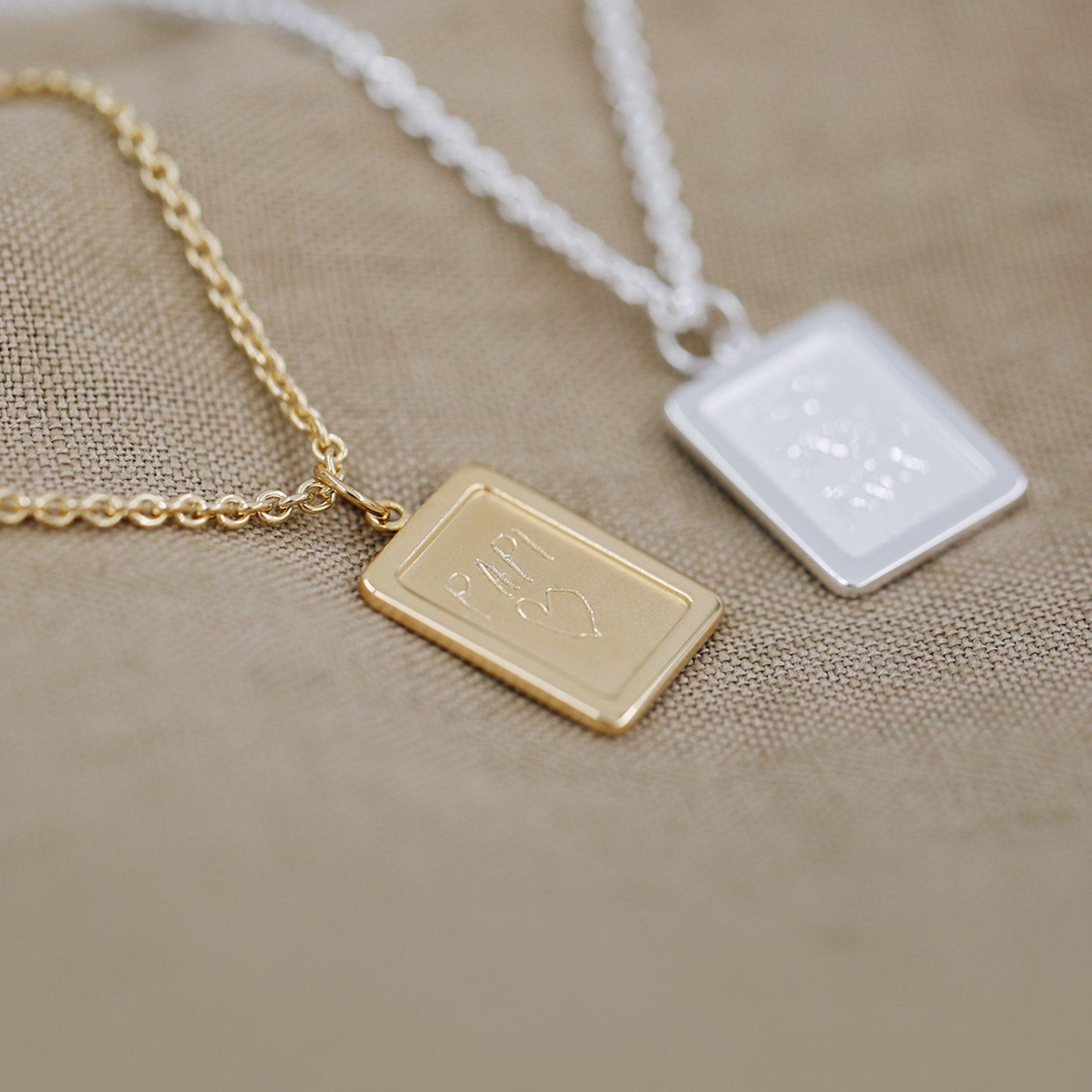 Halskette mit personalisierter Gravur Geschenkidee Gravurkette Mann